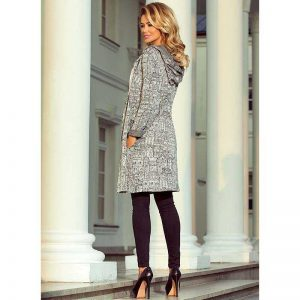 Eleganter Cardigan in Grau