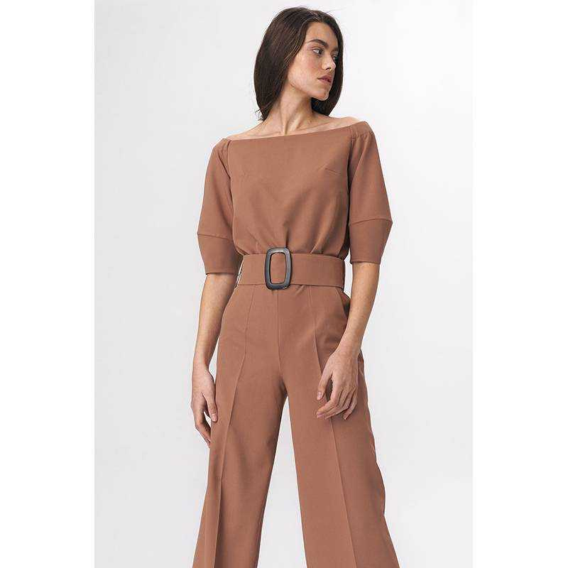 Traumhafter eleganter Overall in Caramel