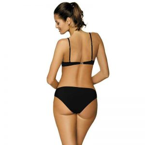 Push Up Bikini in blau schwarz