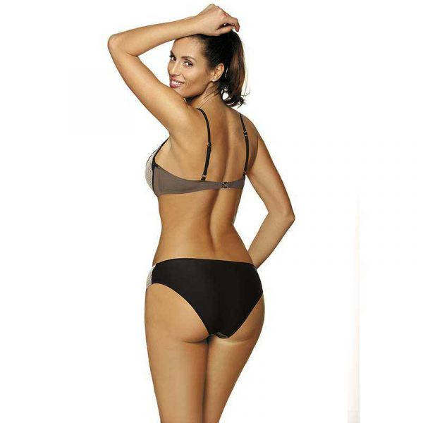 Stylischer Push Up Bikini in Taupe