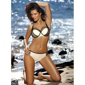 Stylischer Push Up Bikini in Creme