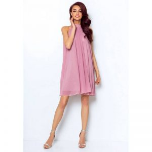 Chiffon Cocktailkleid in Rosa