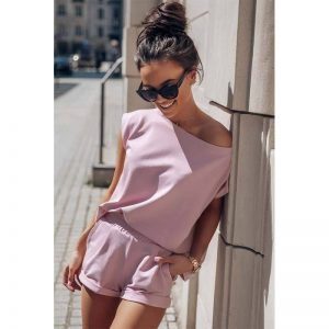 Sommerliches Sweatset in Rosa