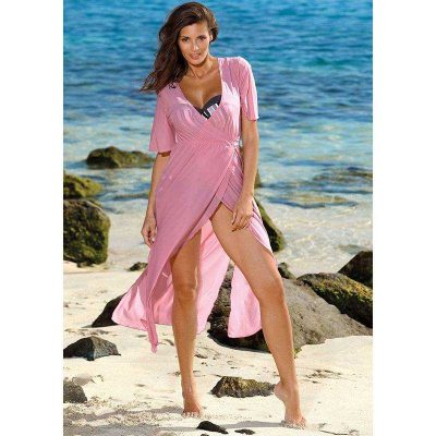 Langes transparentes Strandkleid