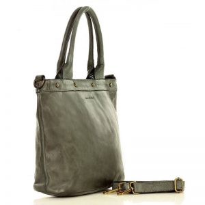 Graue Designer Shoppertasche