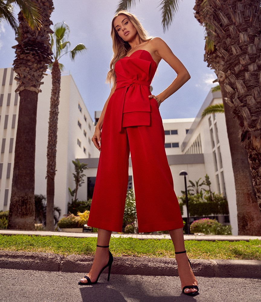 Sommeroverall in Rot
